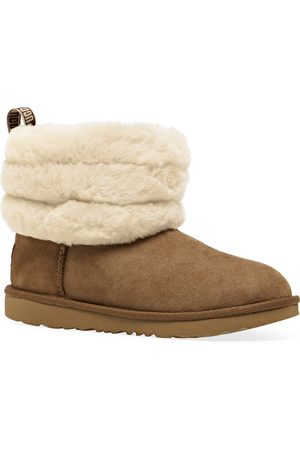 UGG Fluff Mini Quilted Kids Boots - Chestnut
