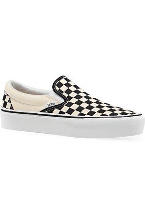 Vans Classic Platform s Slip On Shoes - Cream Checker