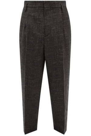 Raey Exaggerated Tapered-leg Wool-blend Trouser - Mens - Charcoal