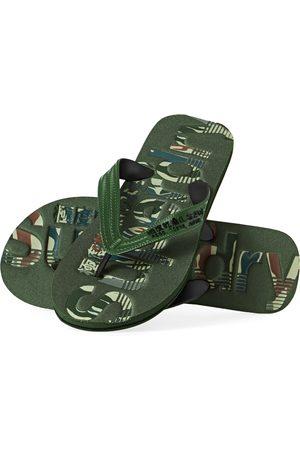 Superdry Men Flip Flops - Scuba Infill Flip Flop s Sandals - Olive