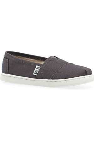 Toms Alpargata Canvas 2 Kids Slip On Shoes - Dark Ash