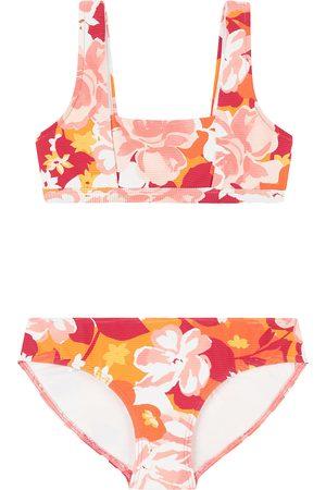 Seafolly Girls Bikinis - Square Neck Tankini Vintage Vacay Girls Bikini - Fanta