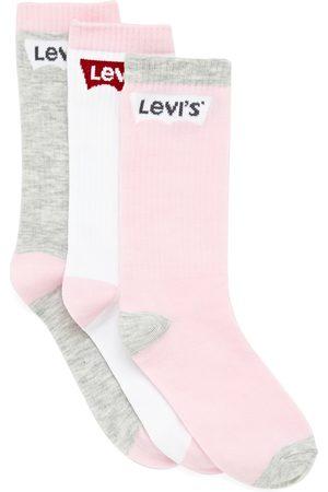 Levi's Batwing Regular Cut 3 Pack Girls Fashion Socks - Fairy Tale