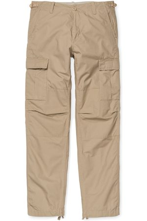 Carhartt WIP Men Cargo Trousers - Carhartt Aviation s Cargo Pants - Leather Rinsed