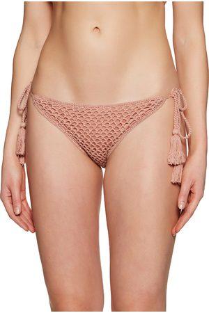Minkpink Women Bikinis - Adrift Crochet String Bikini Bottoms - Baked
