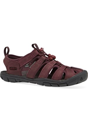 Keen Clearwater CNX Leather s Sandals - Wine Dahlia