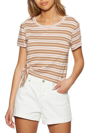 O'Neill Striped Knotted s Short Sleeve T-Shirt - Aop
