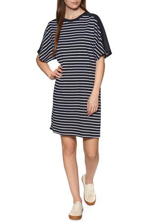 Superdry Cotton Modal Tshirt Dress - Eclipse Navy Stripe