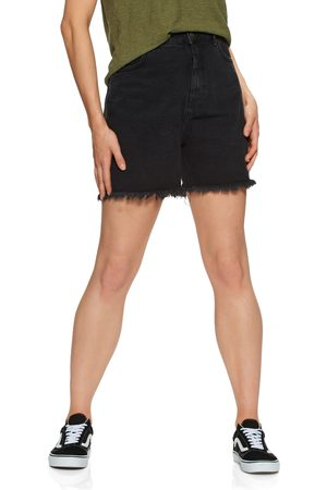 Afends Shelby Organic Denim Cut Off s Shorts - Washed