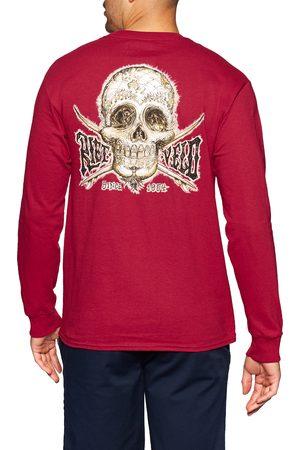 Rietveld Men Tops - Fanta Skullery Contrast s Long Sleeve T-Shirt - Cardinal