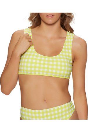 Roxy Beautiful Sun Bralette Bikini Top - Limeade Large Castle