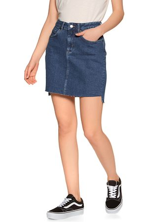 Superdry Denim Mini s Skirt - Dark Indigo Aged