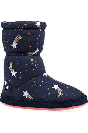 Joules Padabout Girls Slippers - Navy Shooting Star