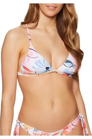 Rip Curl Blossom Crossback Tri Bikini Top - Cream