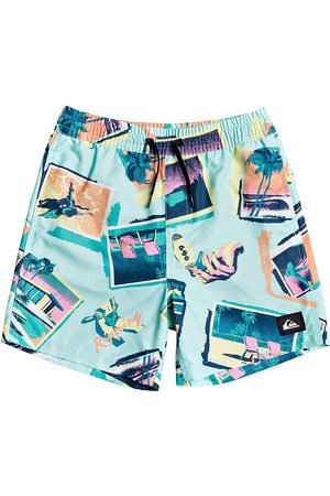 Quiksilver Vacancy Volley Youth 14 Boys Swim Shorts - Beach Glass