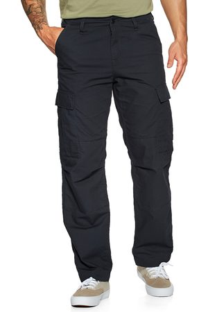 Carhartt Men Cargo Trousers - Carhartt Regular s Cargo Pants - Dark Navy Rinsed