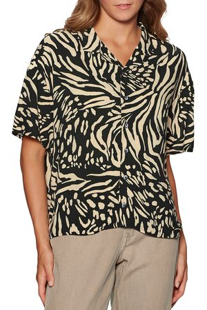 Quiksilver Sunny Ride s Short Sleeve Shirt - Safari