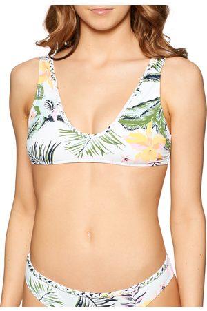 Roxy Bloom Elongated Tir Bikini Top - Bright Praslin