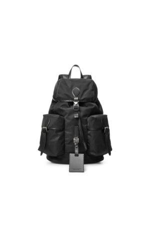 Ralph Lauren Leather-Trim Twill Backpack