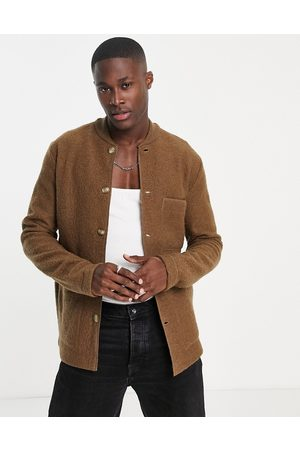 SELECTED Boiled wool overshirt in