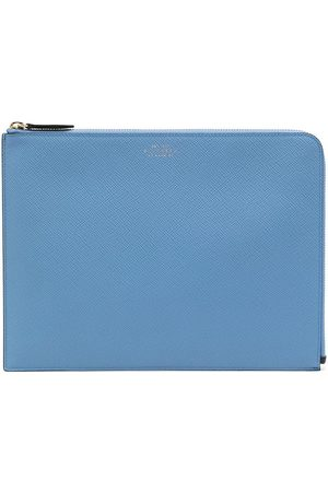 SMYTHSON Panama grained leather pouch