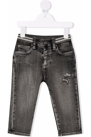 MONNALISA Distressed-effect straight leg jeans