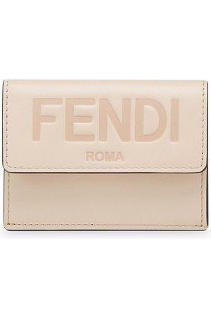 Fendi Debossed-logo tri-fold wallet - Neutrals