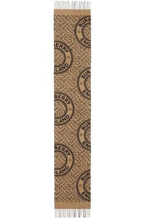 Burberry TB-monogram cashmere scarf - Neutrals