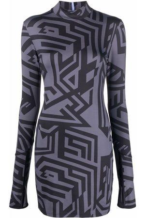 McQ Abstract-print dress