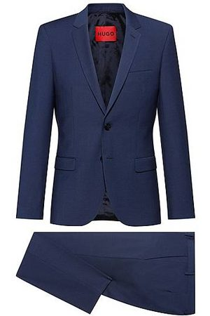 HUGO BOSS Extra-slim-fit patterned suit in a wool blend