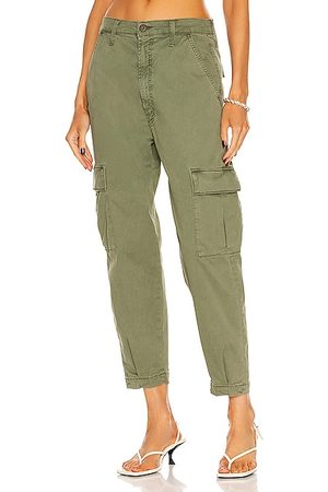 MOTHER The Catch All Cargo Ankle Pant in Cypress