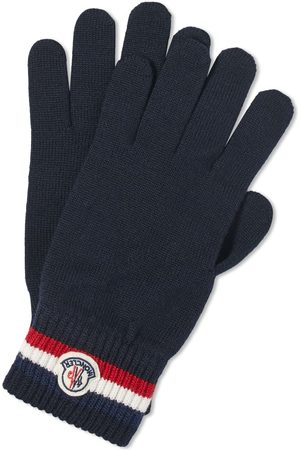 Moncler Men Gloves - Tricolore Logo Wool Gloves