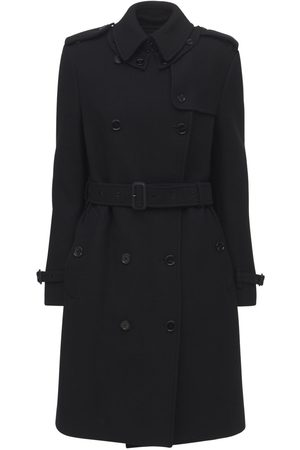 Burberry Cashmere Blend Double Trench Coat
