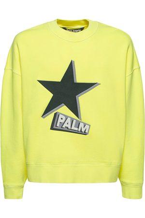 Palm Angels Rockstar Print Cotton Jersey Sweatshirt