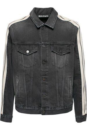 Palm Angels Track Cotton Denim Jacket