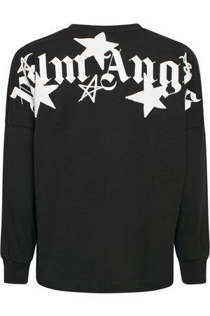 Palm Angels Men T-shirts - Shooting Stars Over Ls Cotton T-shirt