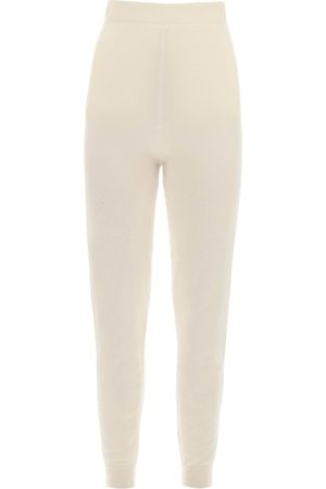 Max Mara WOOL AND CASHMERE KNIT TROUSERS L Wool, Cashmere