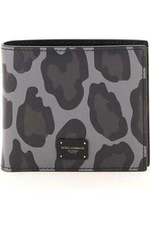 DOLCE & GABBANA LEOPARD PRINT BIFOLD WALLET OS , Leather
