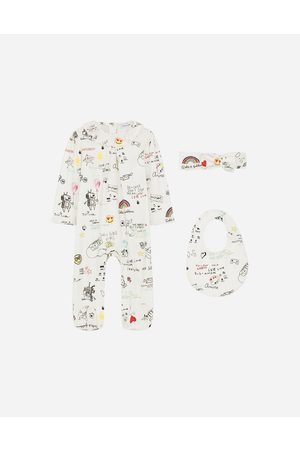 Dolce & Gabbana Gift Sets and Babygrows - 3-piece jersey gift set with DG sweet future print female 0/3