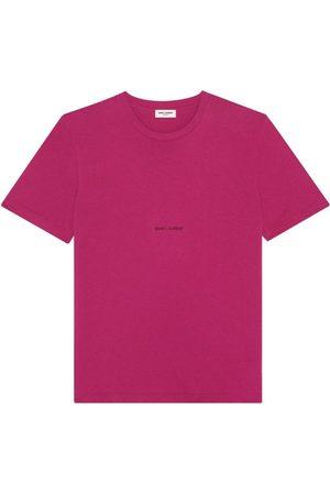 Saint Laurent Men Short Sleeve - Logo T-Shirt