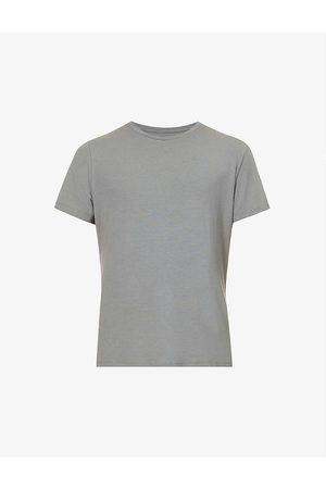 Paige Men Short Sleeve - Cash crewneck cotton-blend T-shirt