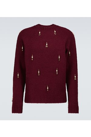 Dolce & Gabbana Embellished wool-blend sweater