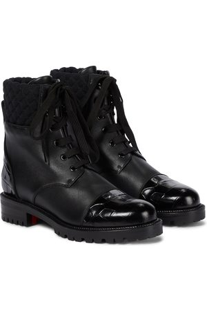 Christian Louboutin Mayr leather combat boots