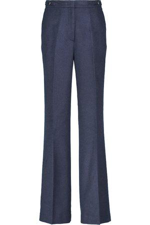 Gabriela Hearst Vesta high-rise wide-leg silk twill pants