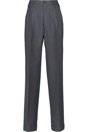 Maison Margiela High-rise wool-blend straight pants