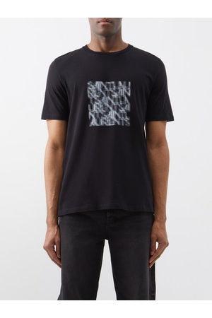 Saint Laurent Abstract Logo-print Cotton-jersey T-shirt - Mens