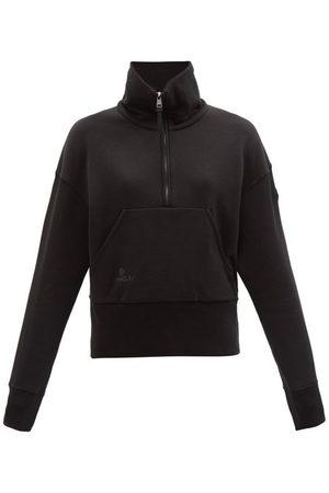 Moncler Logo-patch Cotton-jersey Sweatshirt - Womens