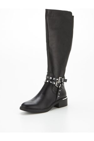 New Look Ditto Pu Studded High Leg Boot