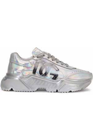 Dolce & Gabbana Women Trainers - Holographic-effect lace-up sneakers