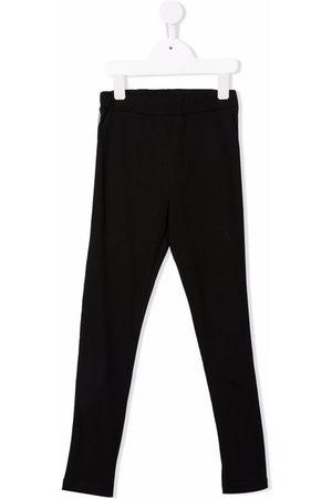 Balmain Kids Boys Trousers - Logo-print stretch-cotton leggings